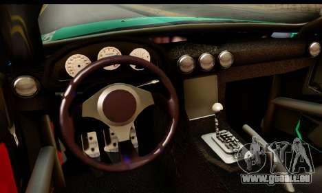 Ford Mustang Falken pour GTA San Andreas sur la vue arrière gauche