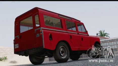 Land Rover Series IIa LWB Wagon 1962-1971 pour GTA San Andreas laissé vue