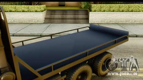 KamAZ 65115 Schlepptau DPS für GTA San Andreas Rückansicht