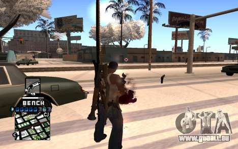 C-HUD Bench pour GTA San Andreas deuxième écran