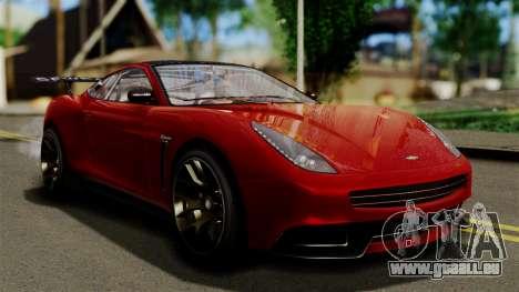 GTA 5 Dewbauchee Massacro Racecar (IVF) für GTA San Andreas
