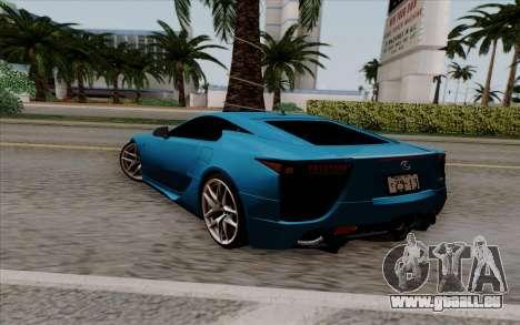 Lexus LF-A 2010 pour GTA San Andreas laissé vue