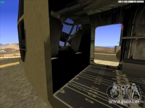 GTA 5 Cargobob für GTA San Andreas Rückansicht