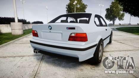 BMW E36 M3 [Updated] pour GTA 4 Vue arrière de la gauche