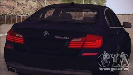 BMW M550d 2014 für GTA San Andreas Rückansicht