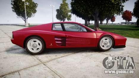 Ferrari Testarossa 1986 v1.2 [EPM] pour GTA 4 est une gauche