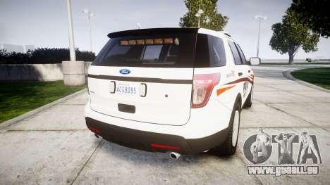 Ford Explorer 2013 Police Interceptor [ELS] für GTA 4 hinten links Ansicht