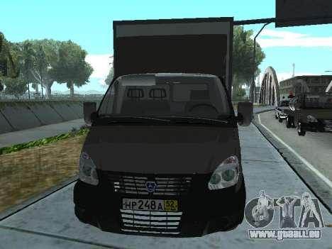 GAZel 3302 pour GTA San Andreas laissé vue