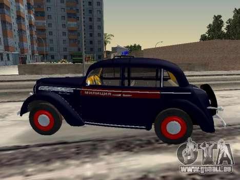 Moskvich 400 Police pour GTA San Andreas laissé vue