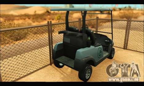Caddy (GTA V) pour GTA San Andreas sur la vue arrière gauche
