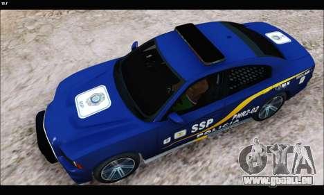Dodge Charger SXT PREMIUM V6 SSP DF 2014 für GTA San Andreas zurück linke Ansicht