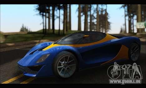 Grotti Turismo R v2 (GTA V) für GTA San Andreas linke Ansicht