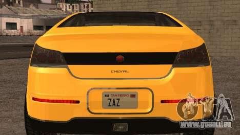 Cheval Surge 1.1 (IVF) für GTA San Andreas Rückansicht
