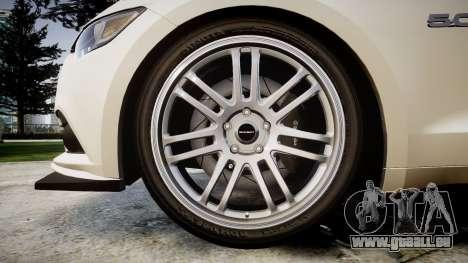 Ford Mustang GT 2015 Custom Kit black stripes für GTA 4 Rückansicht