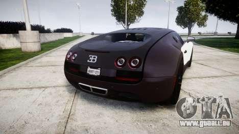 Bugatti Veyron 16.4 Super Sport [EPM] Carbon pour GTA 4 Vue arrière de la gauche