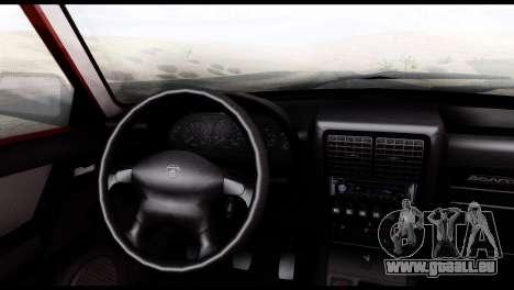 GAZ 3110 Volga pour GTA San Andreas sur la vue arrière gauche