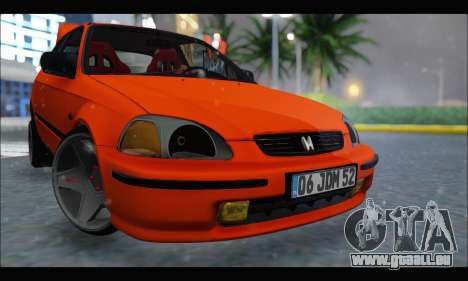 Honda Civic HB (JDM Family) für GTA San Andreas linke Ansicht