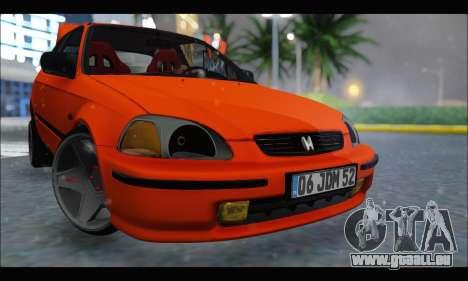 Honda Civic HB (JDM Family) pour GTA San Andreas laissé vue