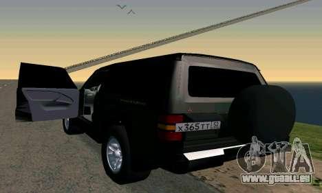 Mitsubishi Pajero Intercooler Turbo 2800 pour GTA San Andreas laissé vue