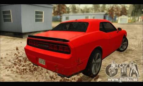 Dodge Challenger SRT-8 2010 v2.0 pour GTA San Andreas sur la vue arrière gauche