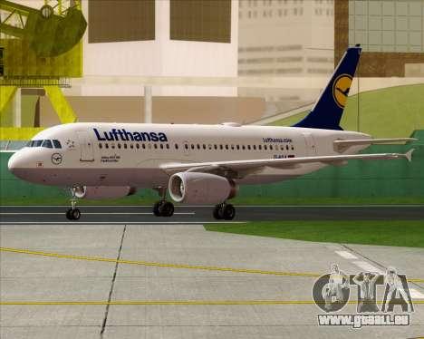 Airbus A319-100 Lufthansa pour GTA San Andreas vue de droite