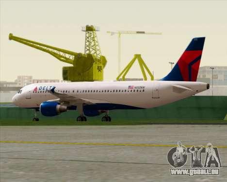 Airbus  A320-200 Delta Airlines pour GTA San Andreas vue intérieure