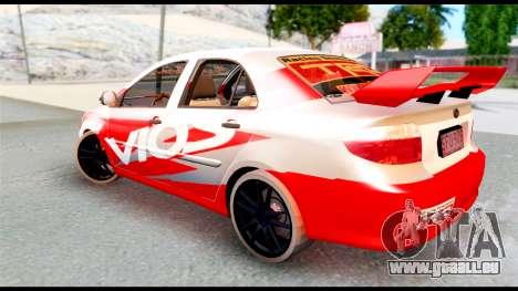 Toyota Vios TRD Racing für GTA San Andreas linke Ansicht