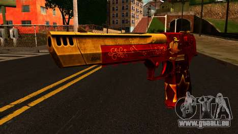 Christmas Desert Eagle für GTA San Andreas