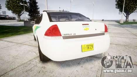 Chevrolet Impala Martin County Sheriff [ELS] pour GTA 4 Vue arrière de la gauche