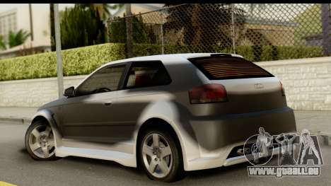 Audi A3 Tuning für GTA San Andreas linke Ansicht