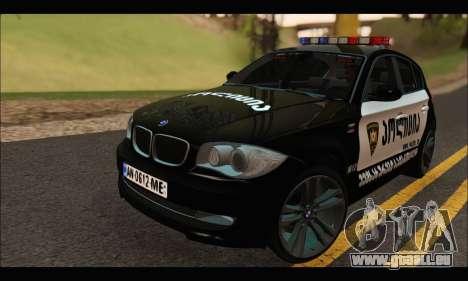 BMW 120i GEO Police pour GTA San Andreas