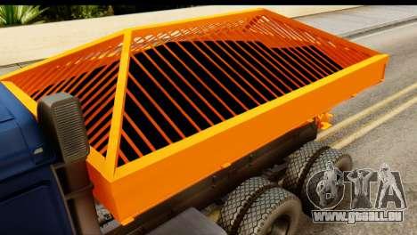 KamAZ 65115 Schneefräse für GTA San Andreas Rückansicht