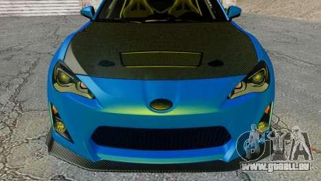 Subaru BRZ Drift Built für GTA San Andreas rechten Ansicht
