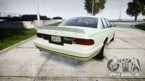 GTA V Vapid Stanier v3.0 pour GTA 4 Vue arrière de la gauche