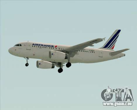 Airbus A319-100 Air France für GTA San Andreas Innenansicht