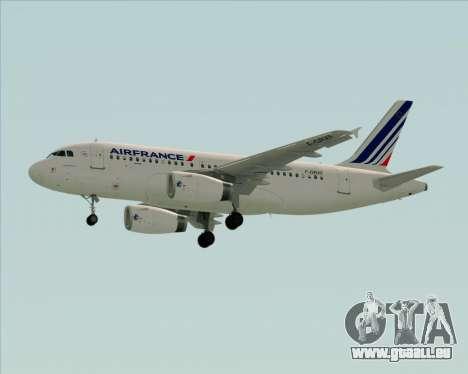 Airbus A319-100 Air France für GTA San Andreas Innenansicht