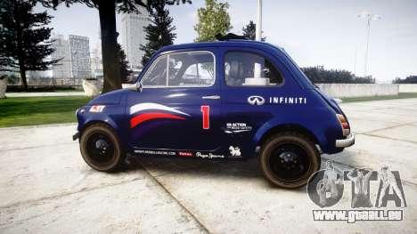 Fiat 695 Abarth SS Assetto Corse 1970 Red Bull für GTA 4 linke Ansicht