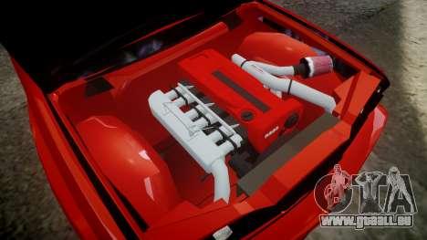 BMW E30 M3 pour GTA 4 Vue arrière
