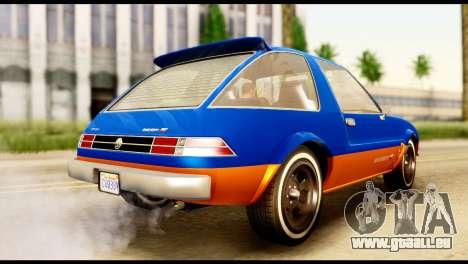 Declasse Rhapsody from GTA 5 pour GTA San Andreas laissé vue