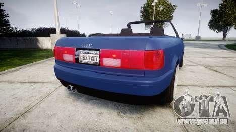 Audi 80 Cabrio us tail lights für GTA 4 hinten links Ansicht