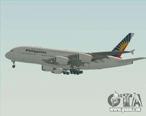 Airbus A380-800 Philippine Airlines pour GTA San Andreas vue de dessous