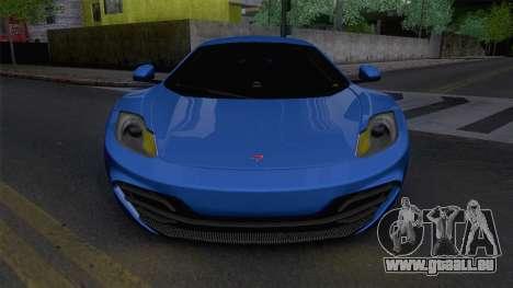McLaren MP4-12C Gawai v1.5 HQ interior für GTA San Andreas rechten Ansicht