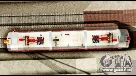 Le 6600kw Delfin pour GTA San Andreas sur la vue arrière gauche