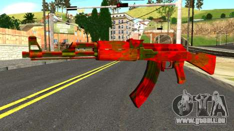 AK47 with Blood für GTA San Andreas
