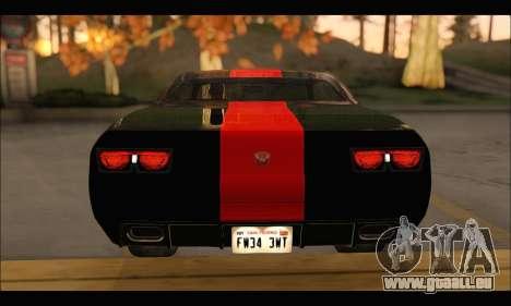La bravade Gauntlet (GTA V) (FIV & АПП) pour GTA San Andreas vue arrière