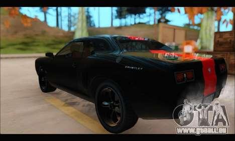 La bravade Gauntlet (GTA V) (FIV & АПП) pour GTA San Andreas sur la vue arrière gauche