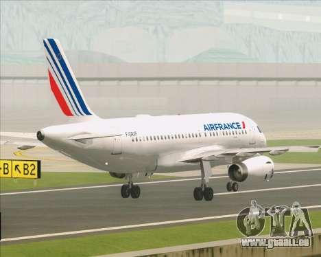 Airbus A319-100 Air France für GTA San Andreas Unteransicht