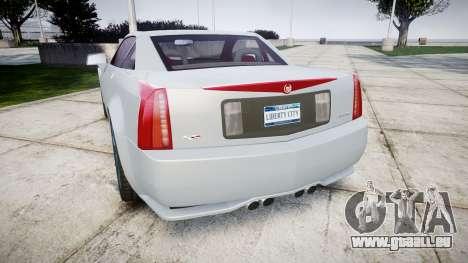 Cadillac XLR-V 2009 für GTA 4 hinten links Ansicht