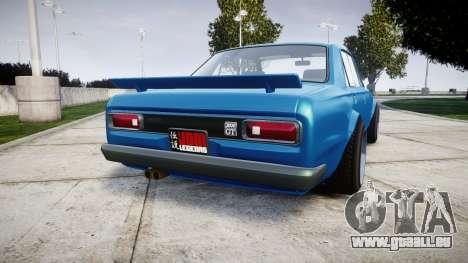 Nissan Skyline 2000GT für GTA 4 hinten links Ansicht