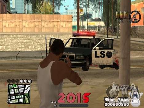 CLEO HUD New Year 2015 für GTA San Andreas her Screenshot